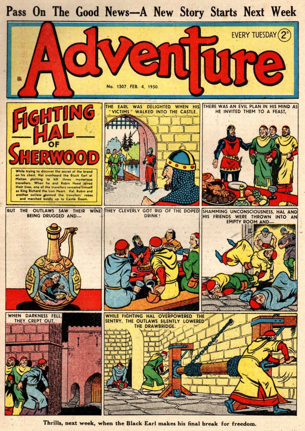 Comic Book Cover For Adventure 1307