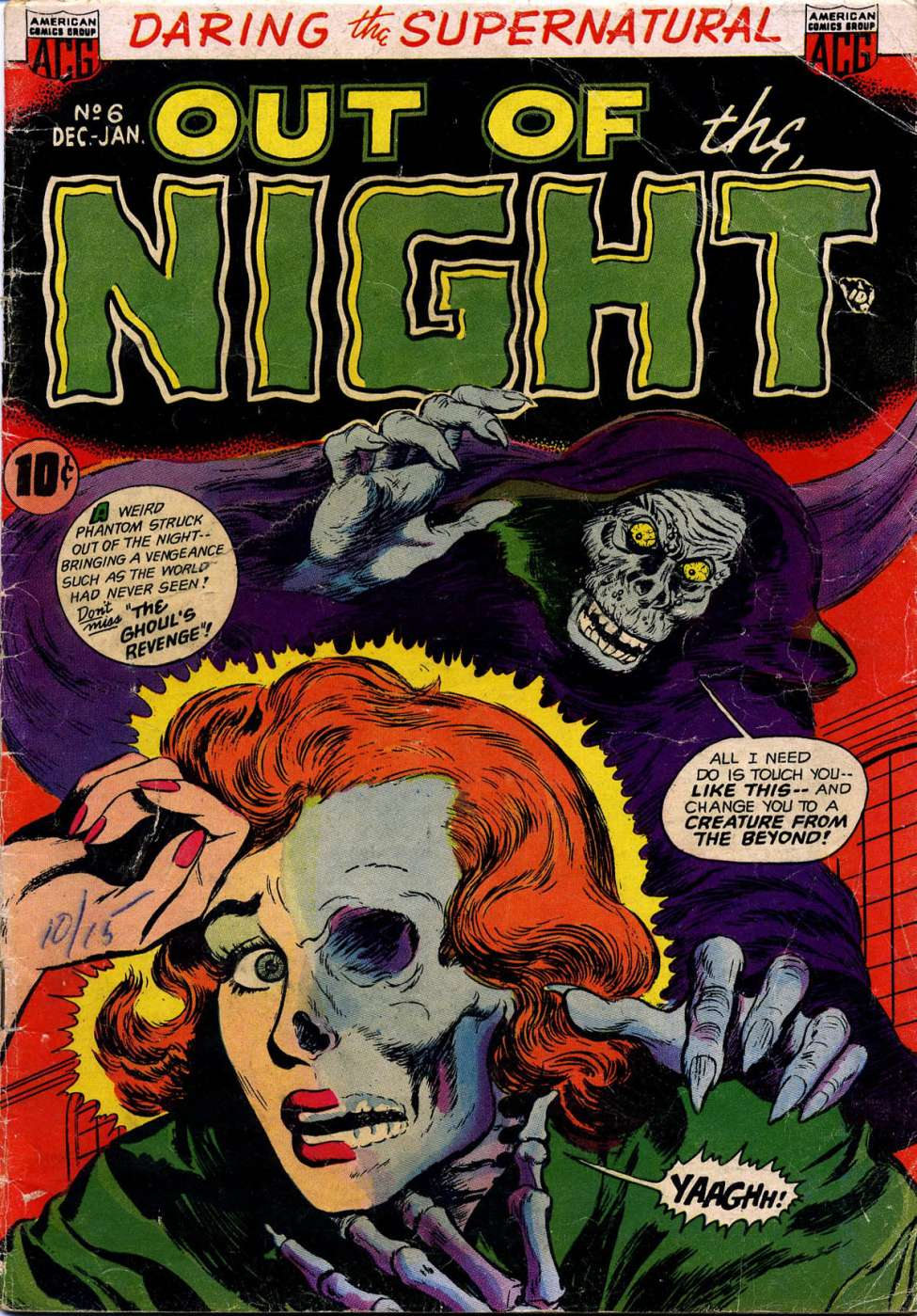 Comic Book Cover For Out of the Night #6
