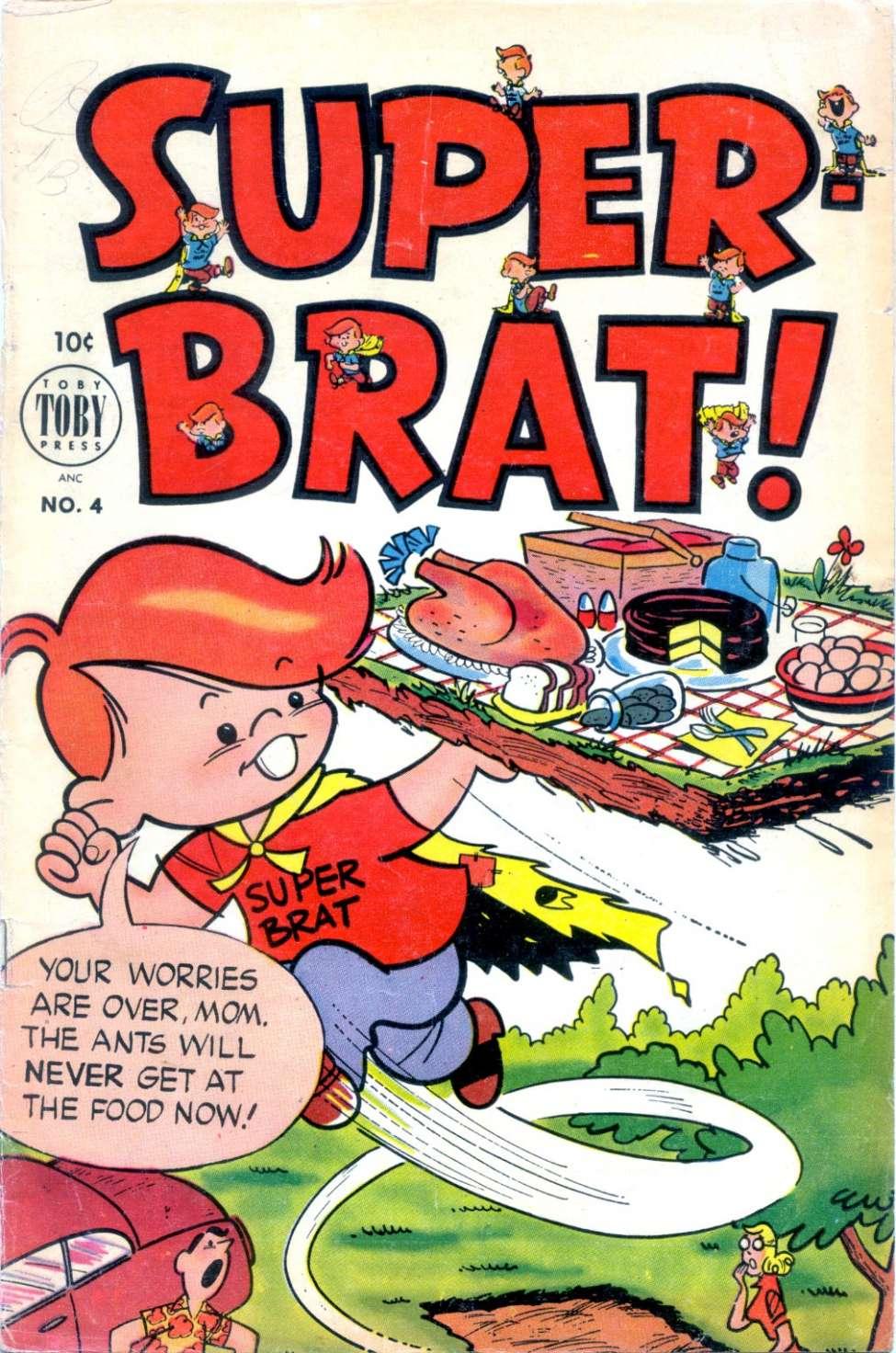 Comic Book Cover For Super-Brat #4