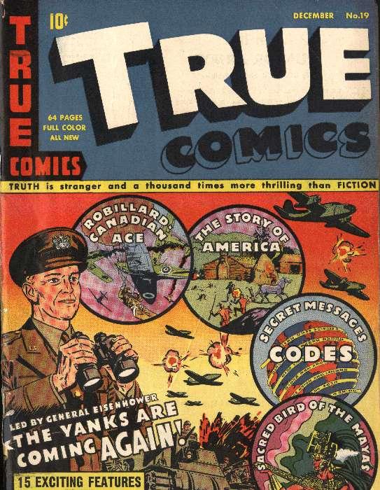 Comic Book Cover For True Comics #19