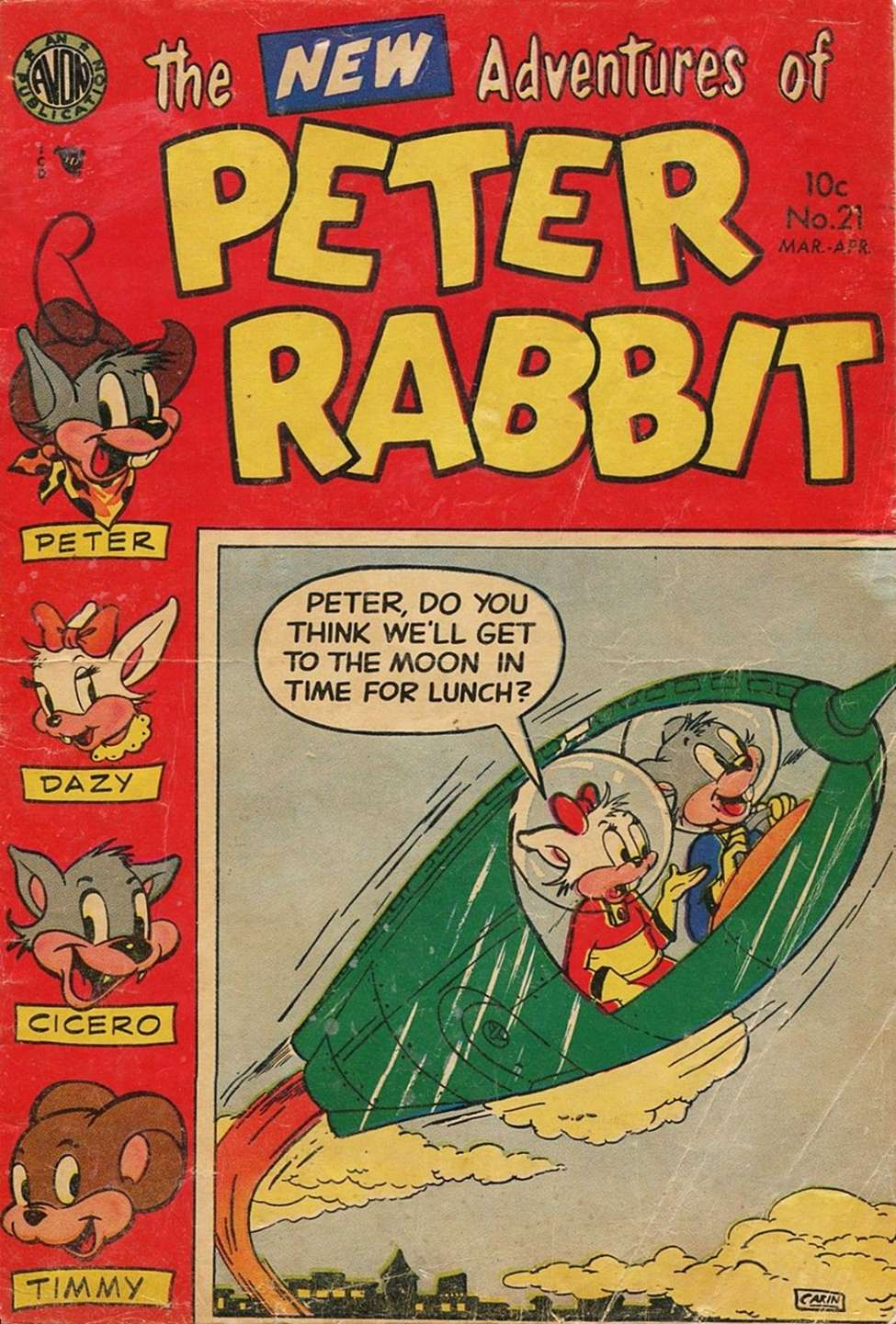 Comic Book Cover For Peter Rabbit #21