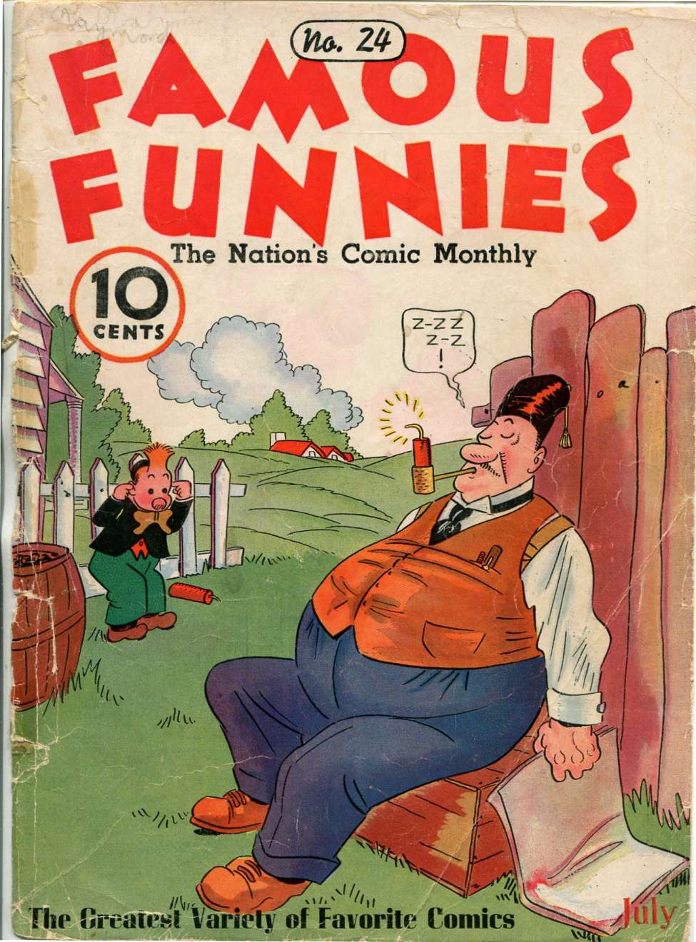 Comic Book Cover For Famous Funnies #24