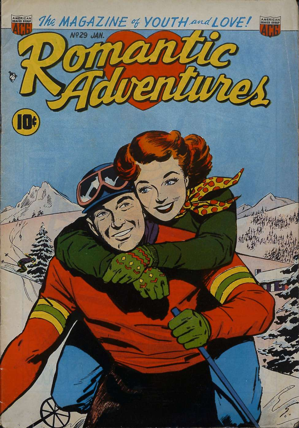Comic Book Cover For Romantic Adventures #29