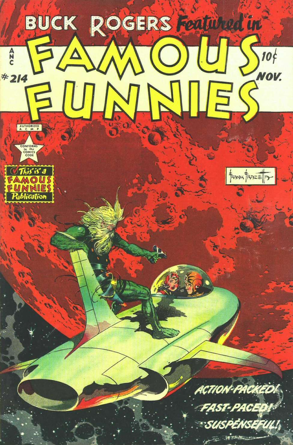 Comic Book Cover For Famous Funnies #214