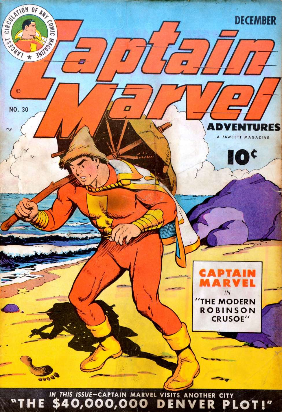 Comic Book Cover For Captain Marvel Adventures #30