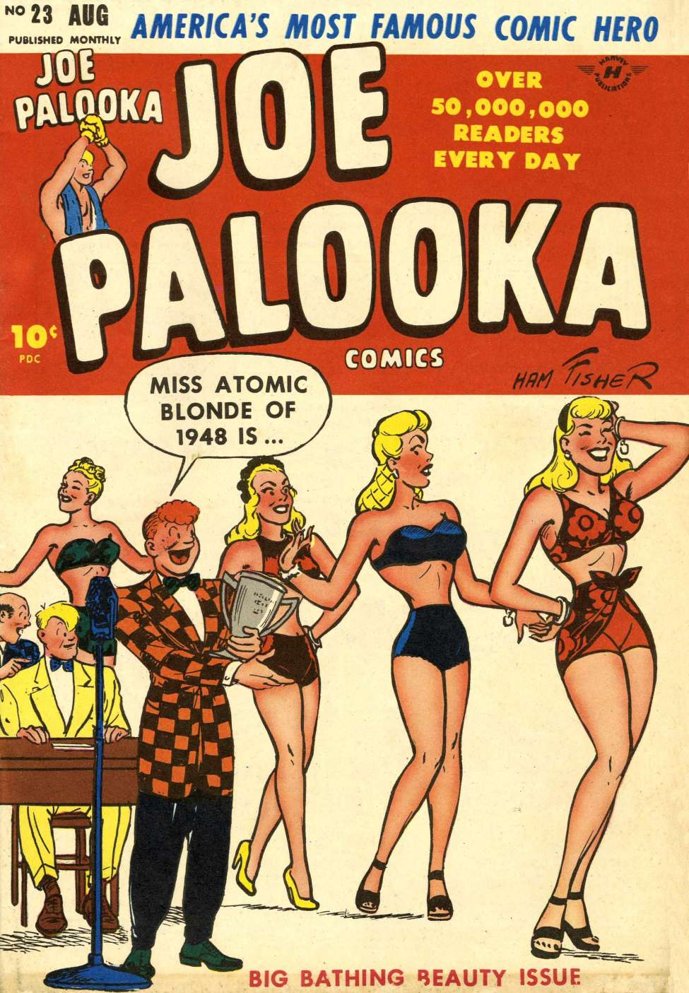 Comic Book Cover For Joe Palooka Comics #23