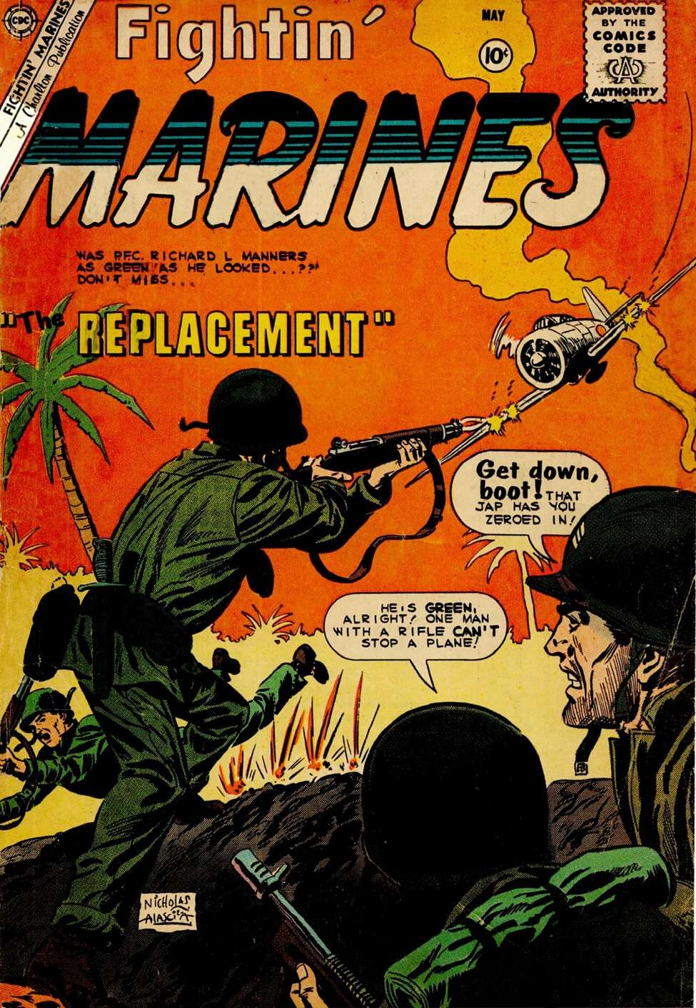 Comic Book Cover For Fightin' Marines #35