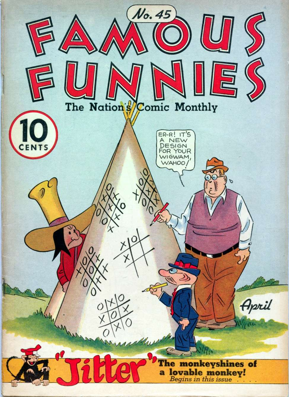Comic Book Cover For Famous Funnies #45