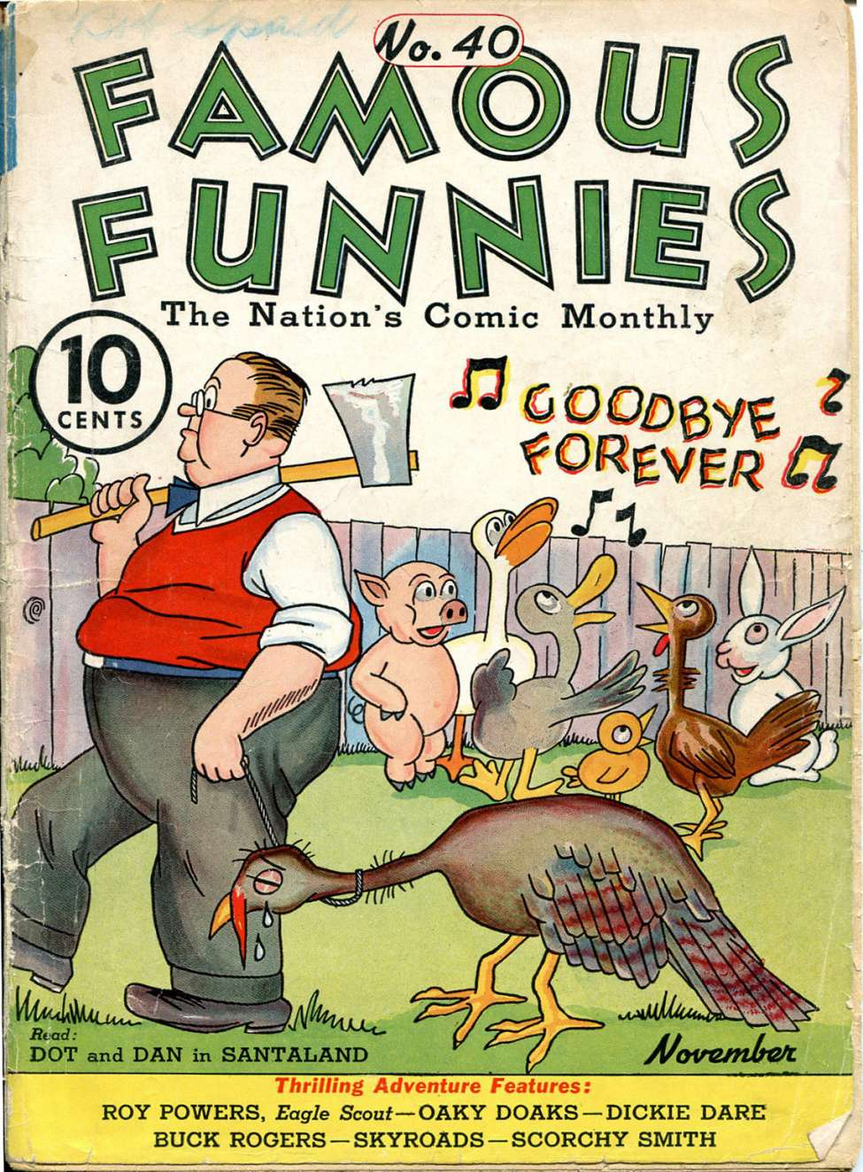 Comic Book Cover For Famous Funnies #40
