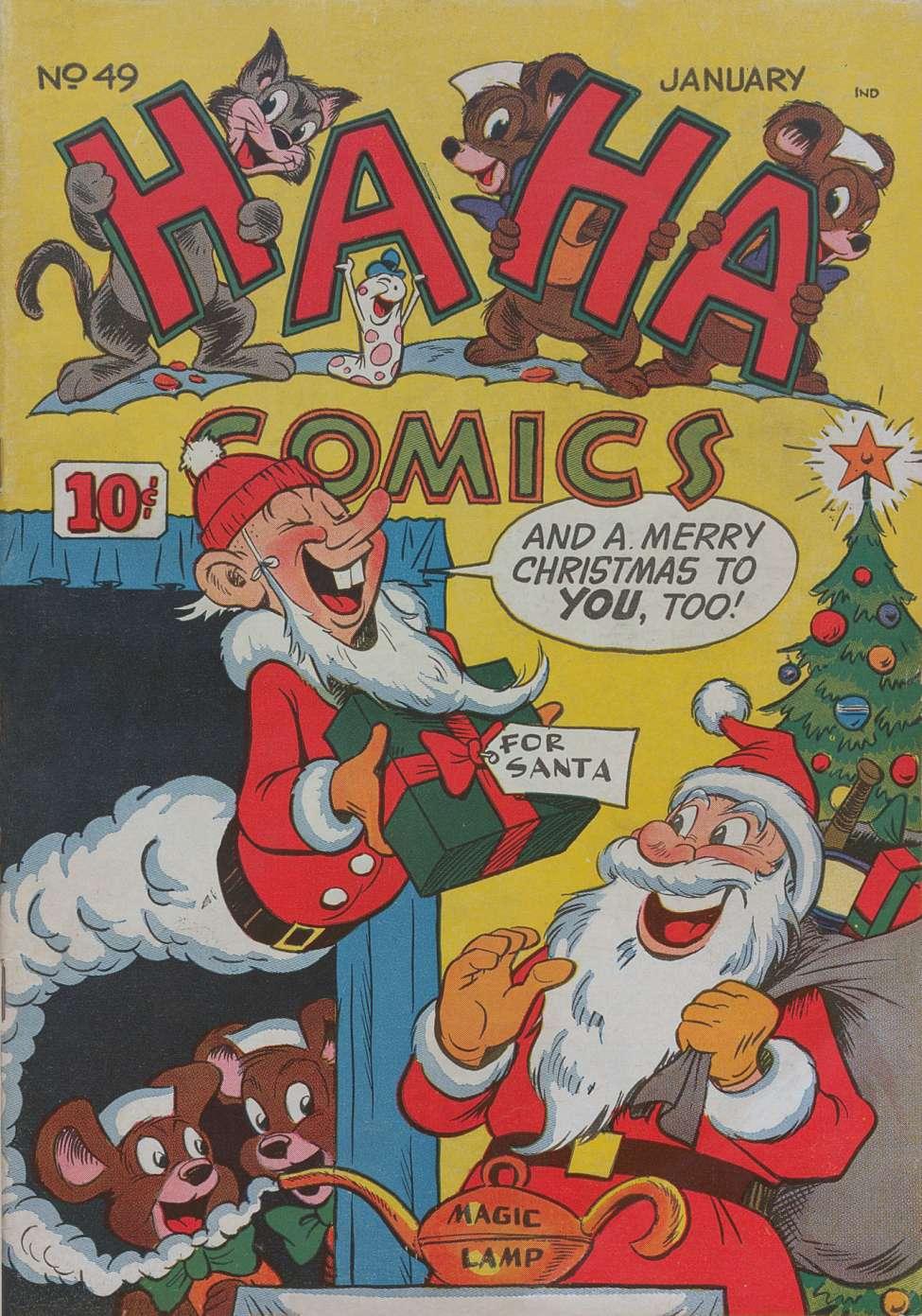 Comic Book Cover For Ha Ha Comics #49
