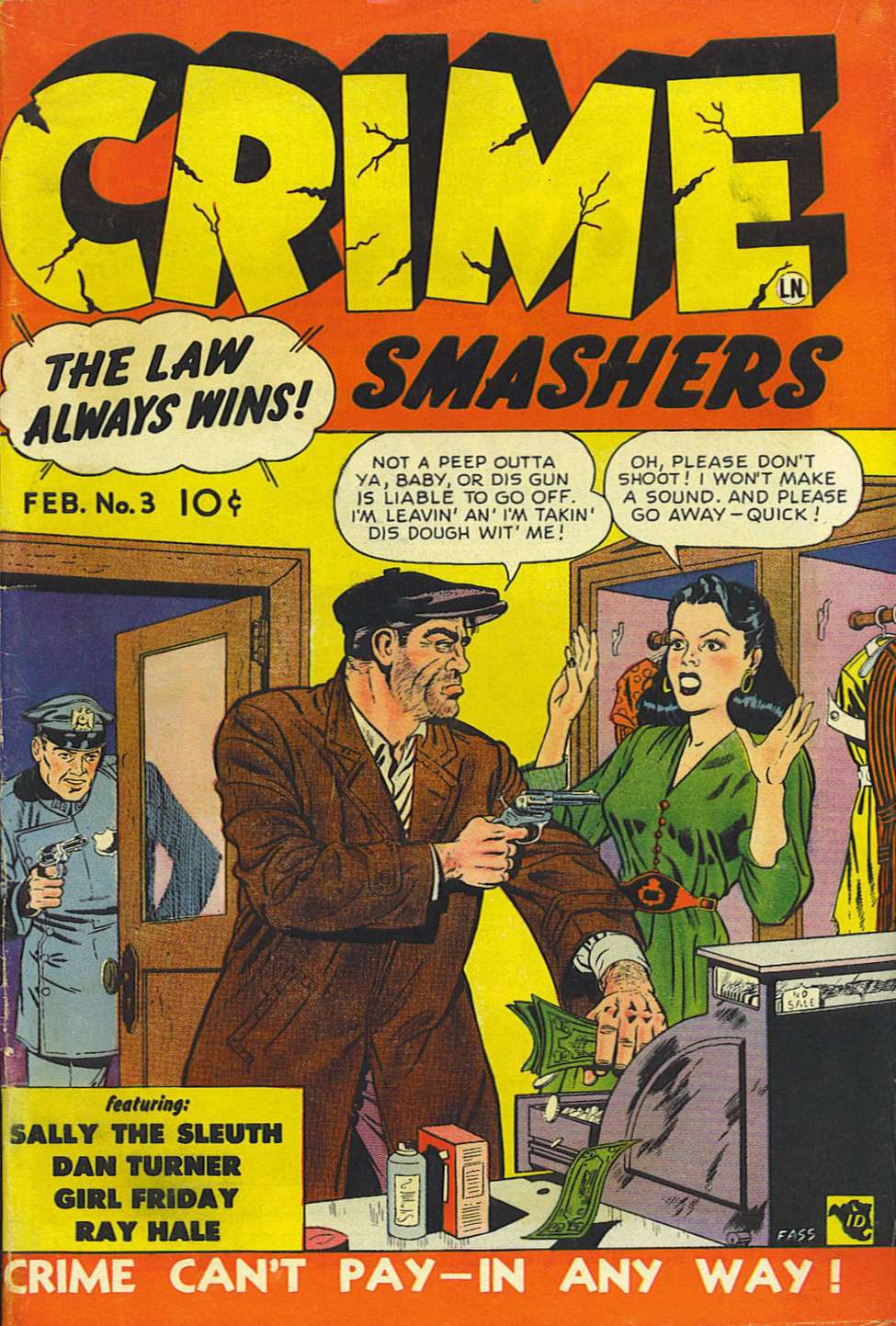 Comic Book Cover For Crime Smashers #3 - Version 2