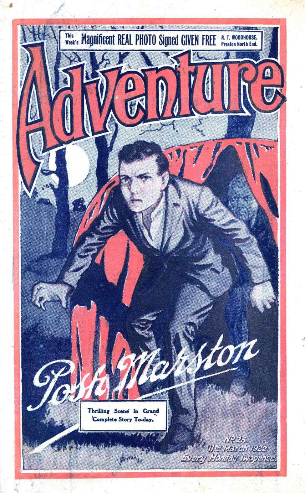 Comic Book Cover For Adventure 0026 - The Miracle Monkey