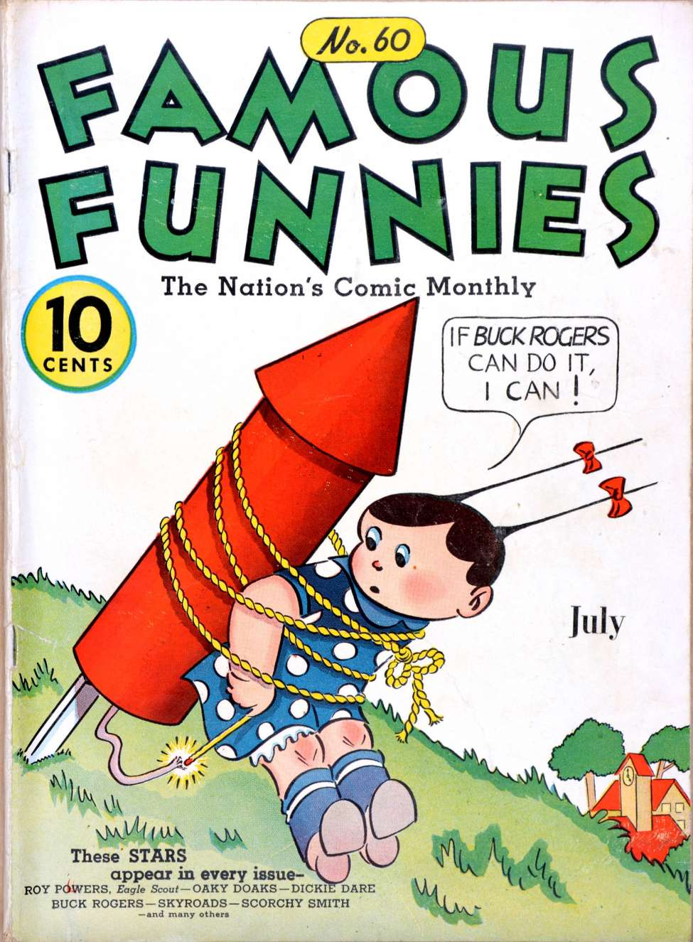 Comic Book Cover For Famous Funnies #60 - Version 2