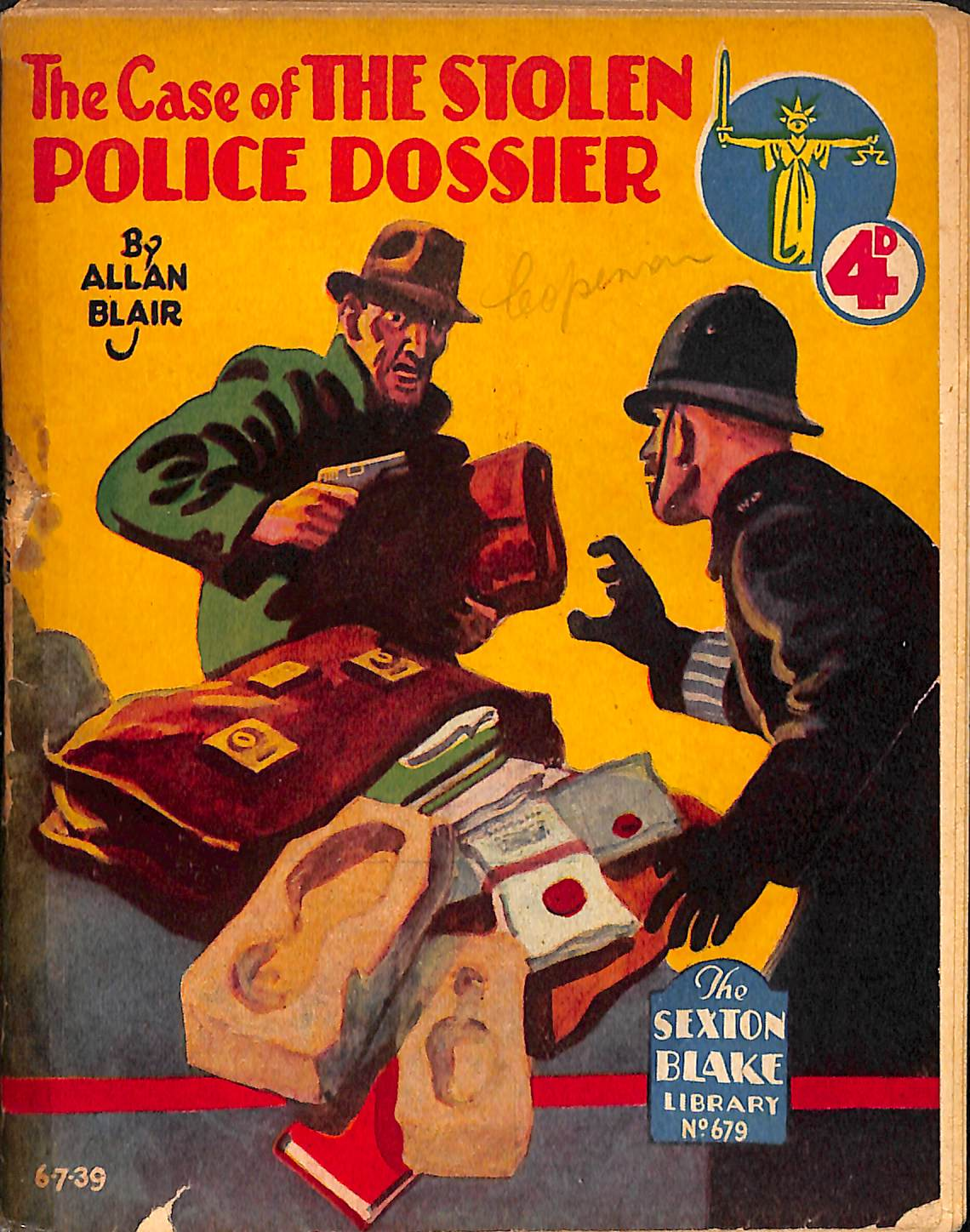 Comic Book Cover For Sexton Blake Library S2 679 - The Case of the Stolen Police Dossier
