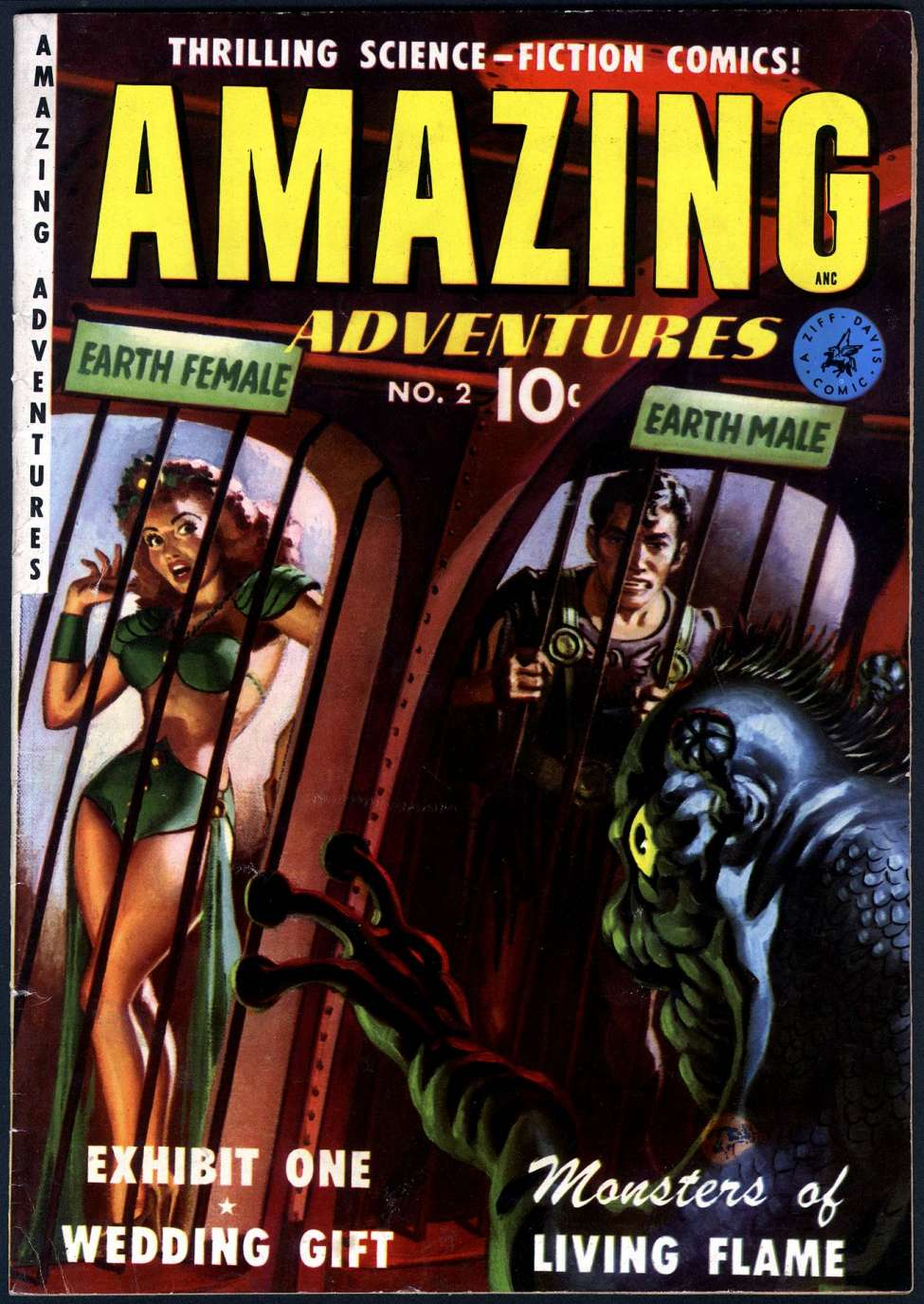 Comic Book Cover For Amazing Adventures #2