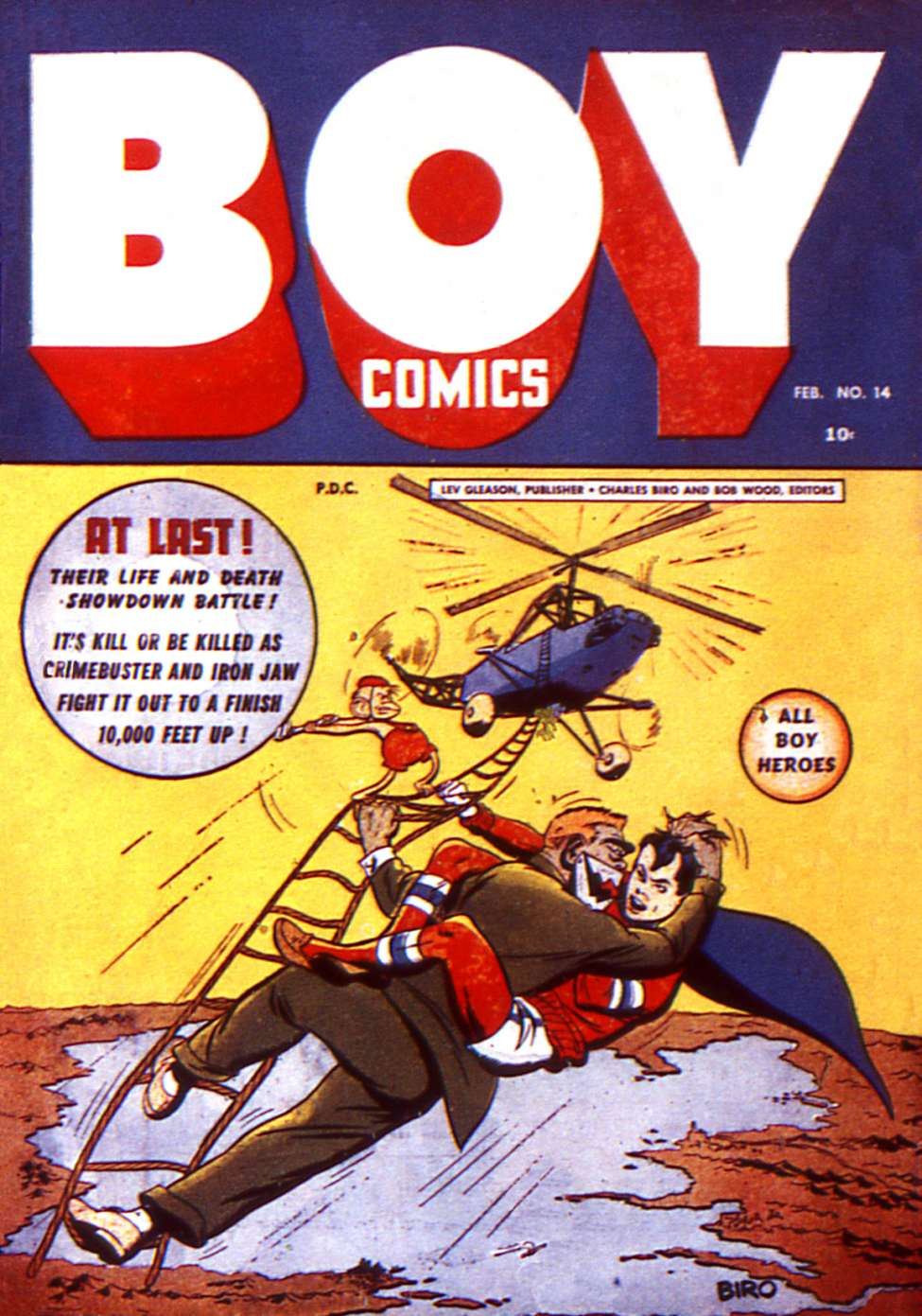 Comic Book Cover For Boy Comics #14