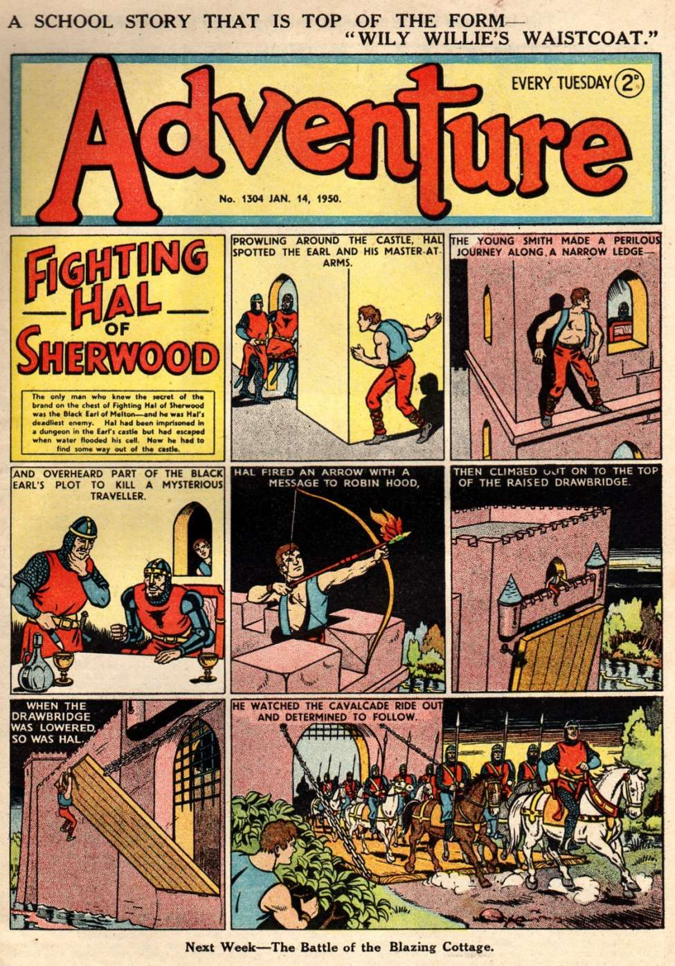 Comic Book Cover For Adventure 1304