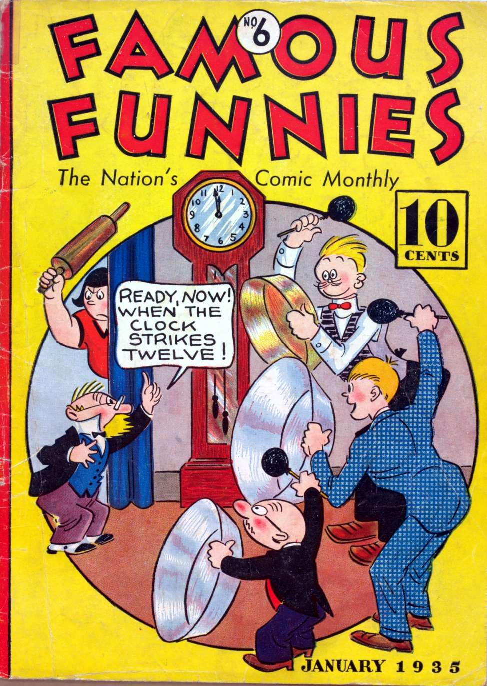 Comic Book Cover For Famous Funnies #6