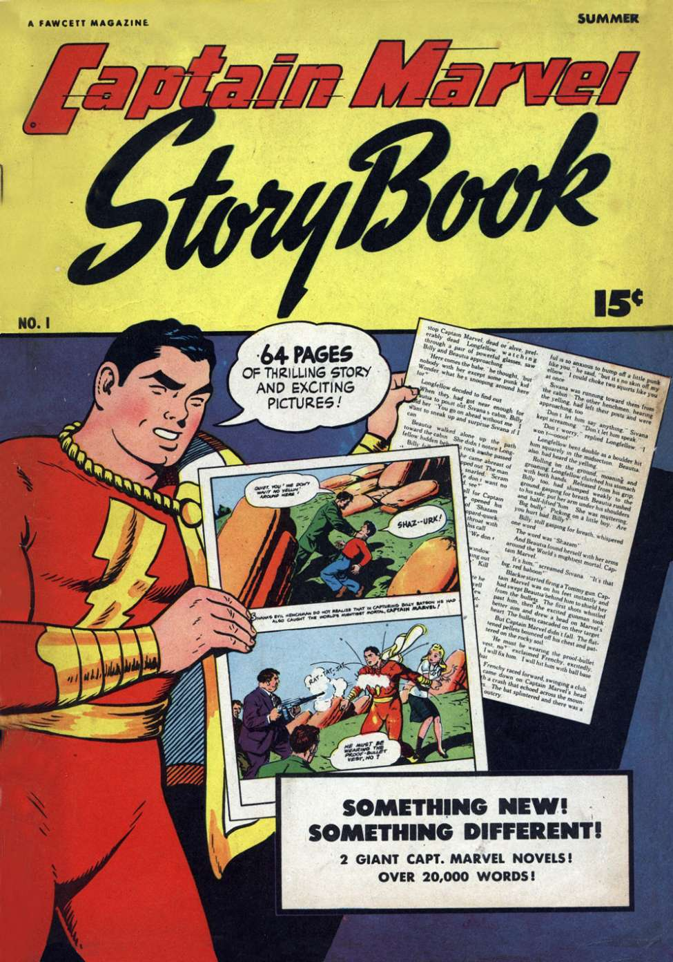 Comic Book Cover For Captain Marvel Story Book #1