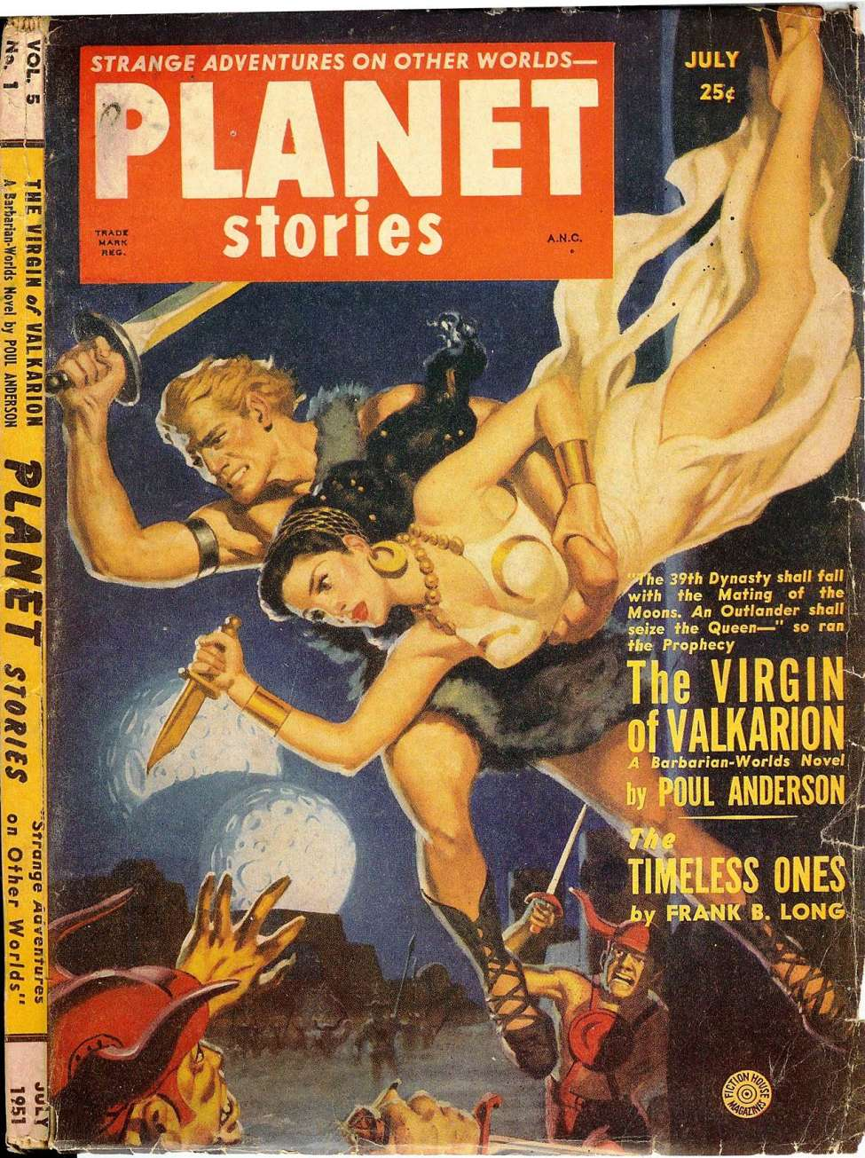 Comic Book Cover For Planet Stories v05 01 - The Virgin of Valkarion - Poul Anderson