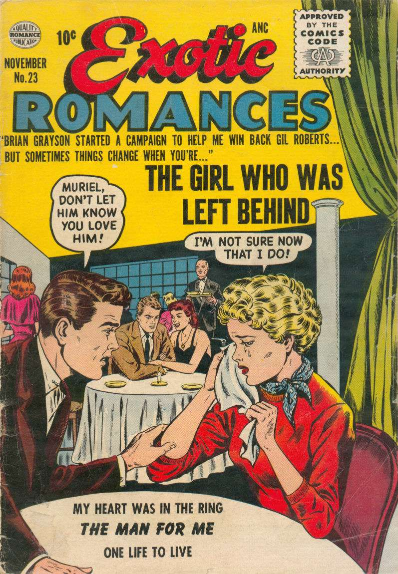 Comic Book Cover For Exotic Romances #23