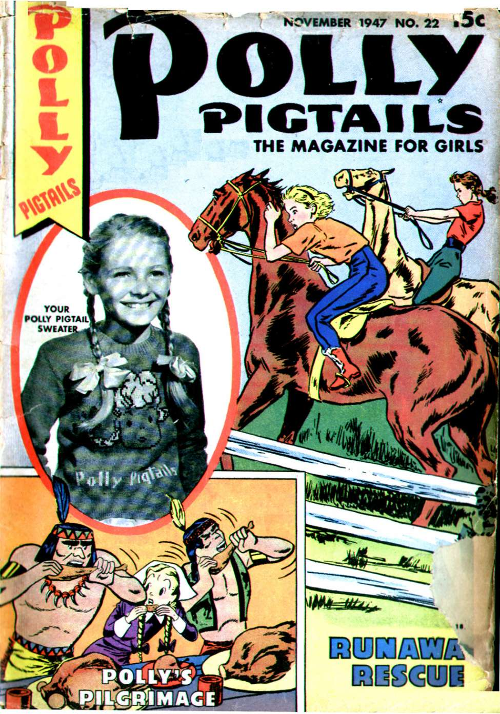 Comic Book Cover For Polly Pigtails #22