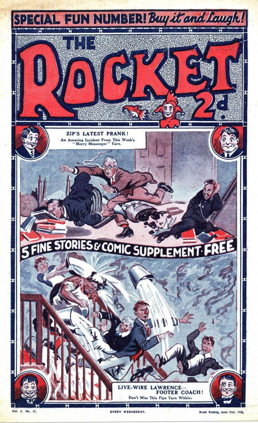 Comic Book Cover For The Rocket 71 - Zip Cracks A Hard Nut!