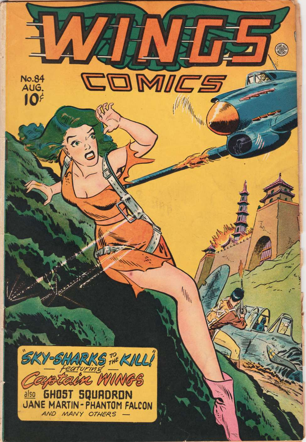 Comic Book Cover For Wings Comics #84