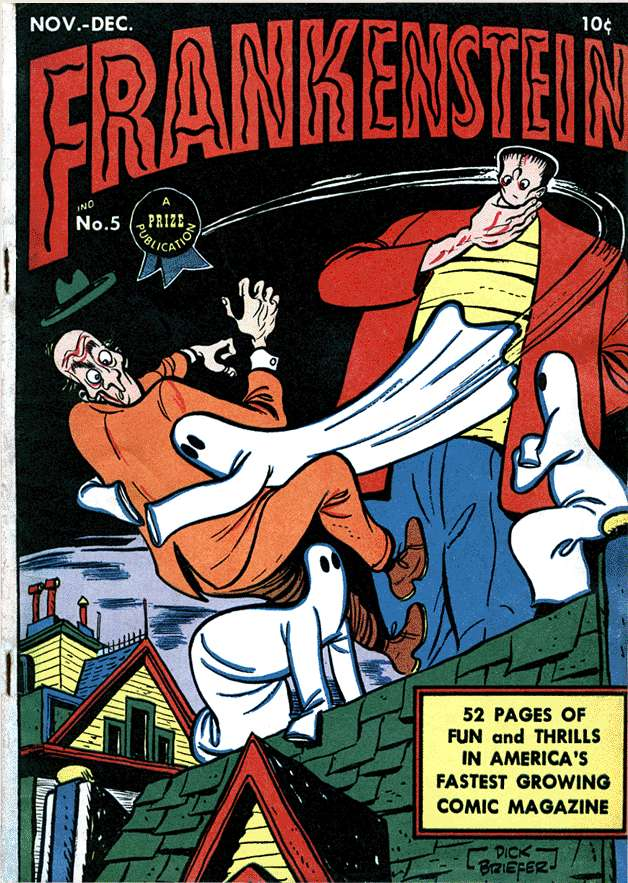 Comic Book Cover For Frankenstein #5