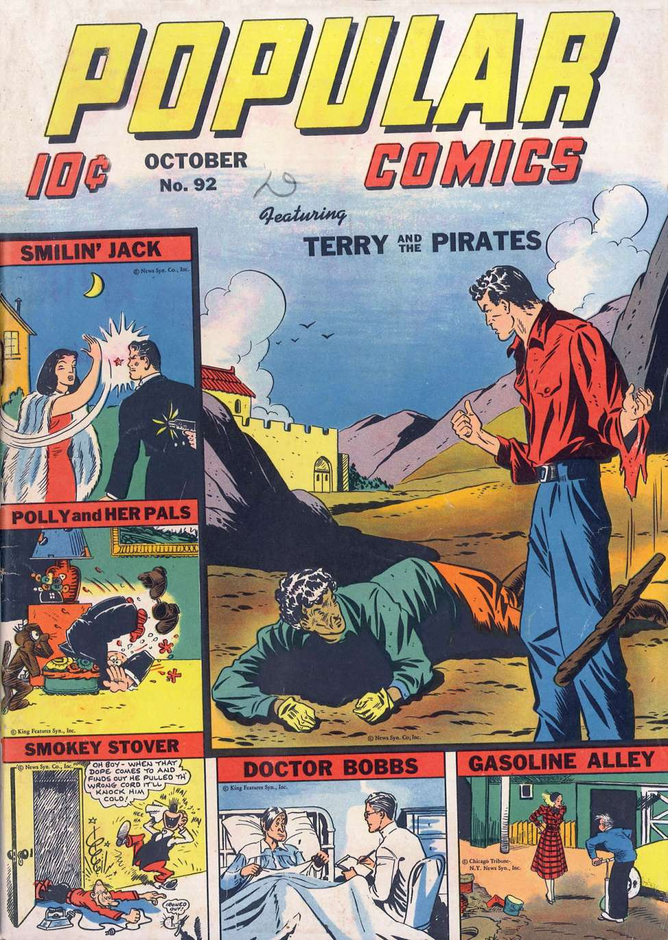 Comic Book Cover For Popular Comics #92