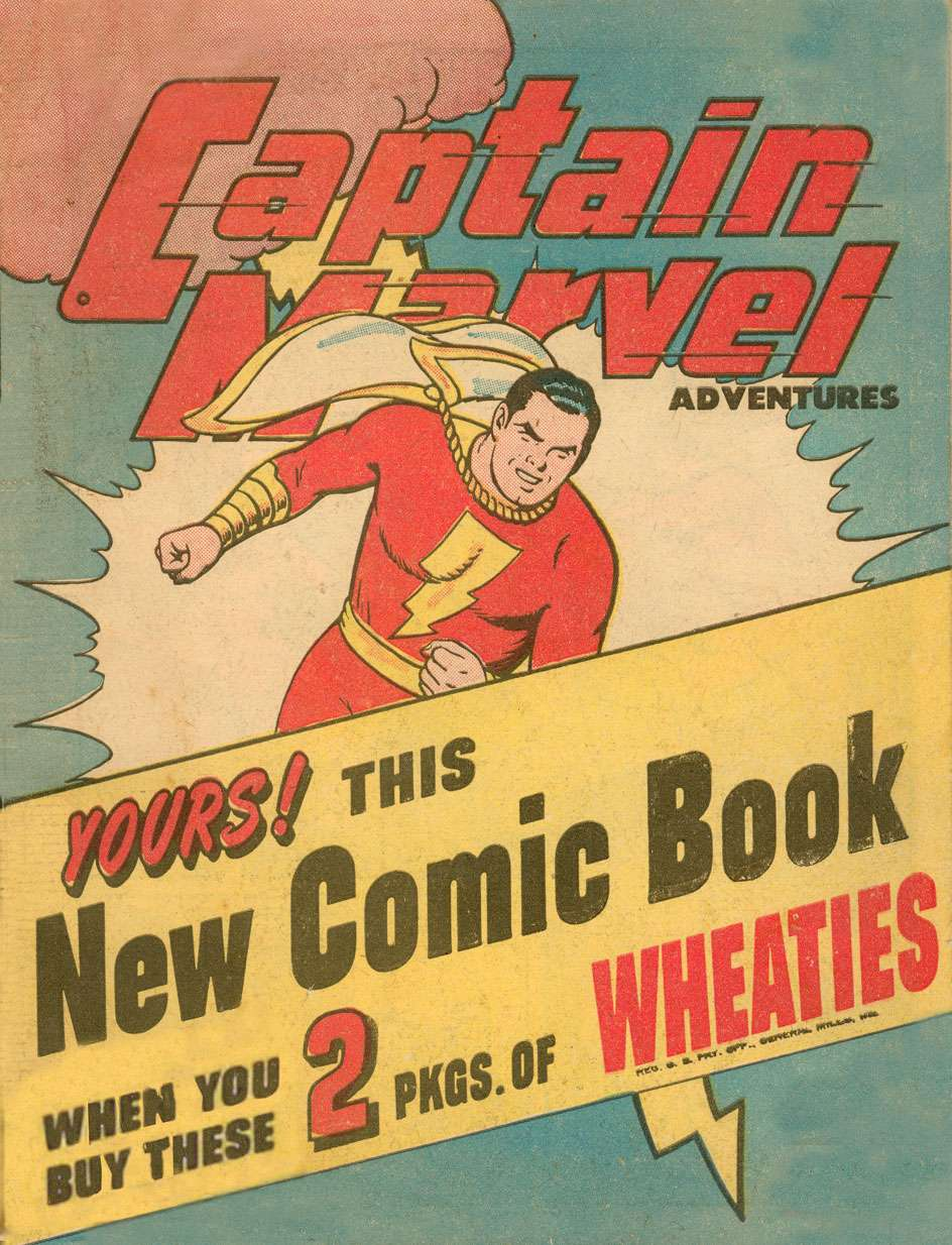 Comic Book Cover For Captain Marvel Adventures [Wheaties Miniature Edition] #1