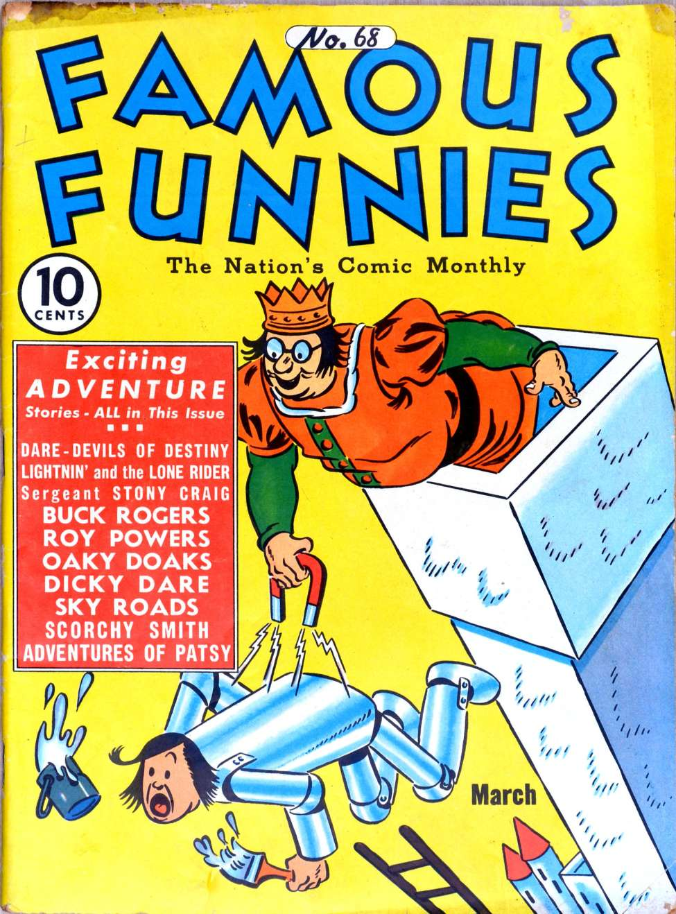 Comic Book Cover For Famous Funnies #68