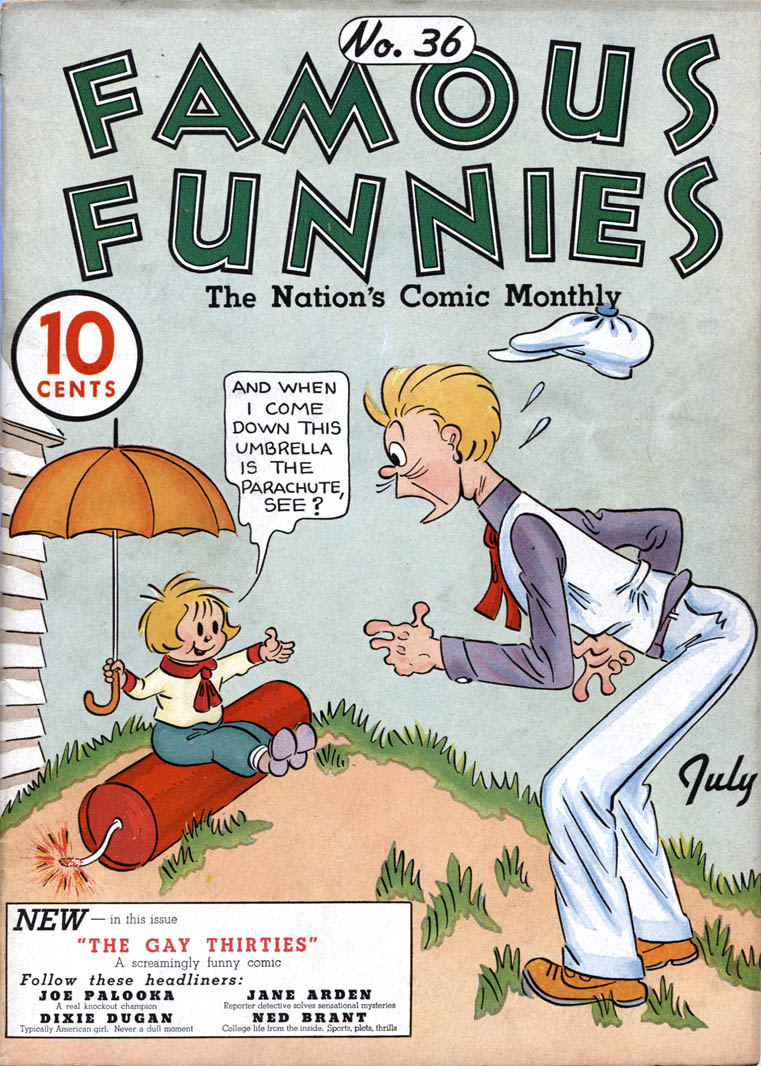Comic Book Cover For Famous Funnies #36