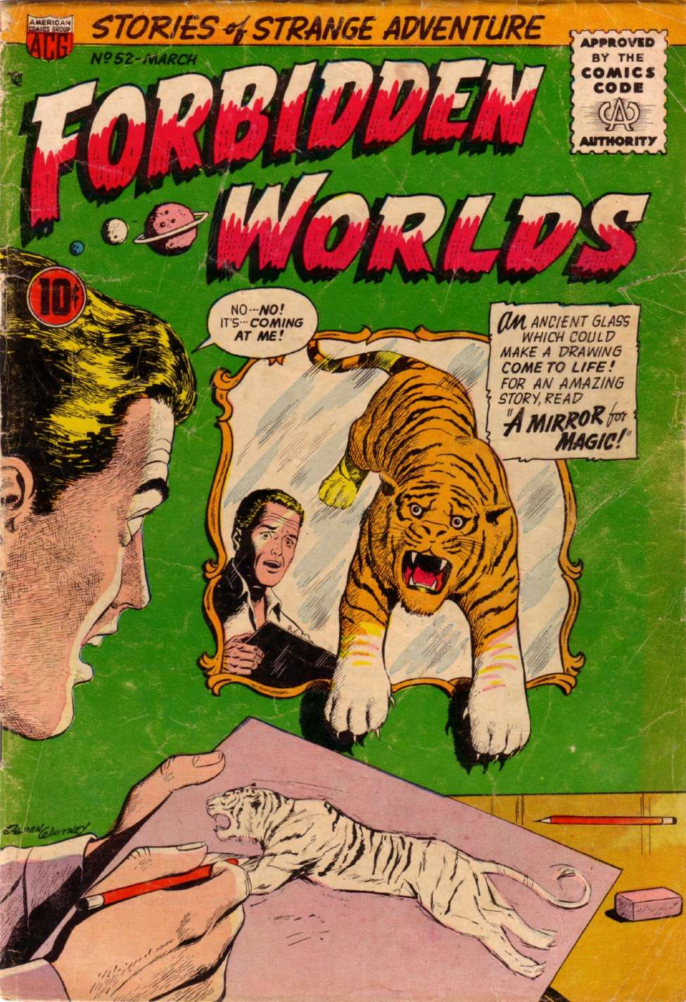 Comic Book Cover For Forbidden Worlds #52