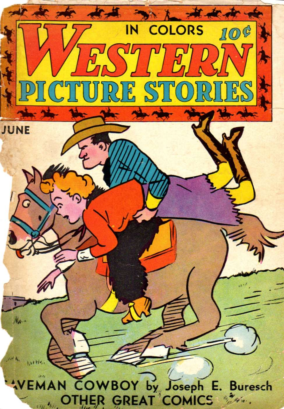 Comic Book Cover For Western Picture Stories #4