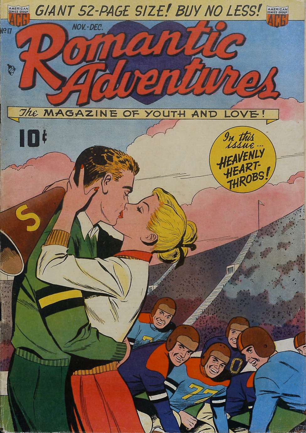 Comic Book Cover For Romantic Adventures #17