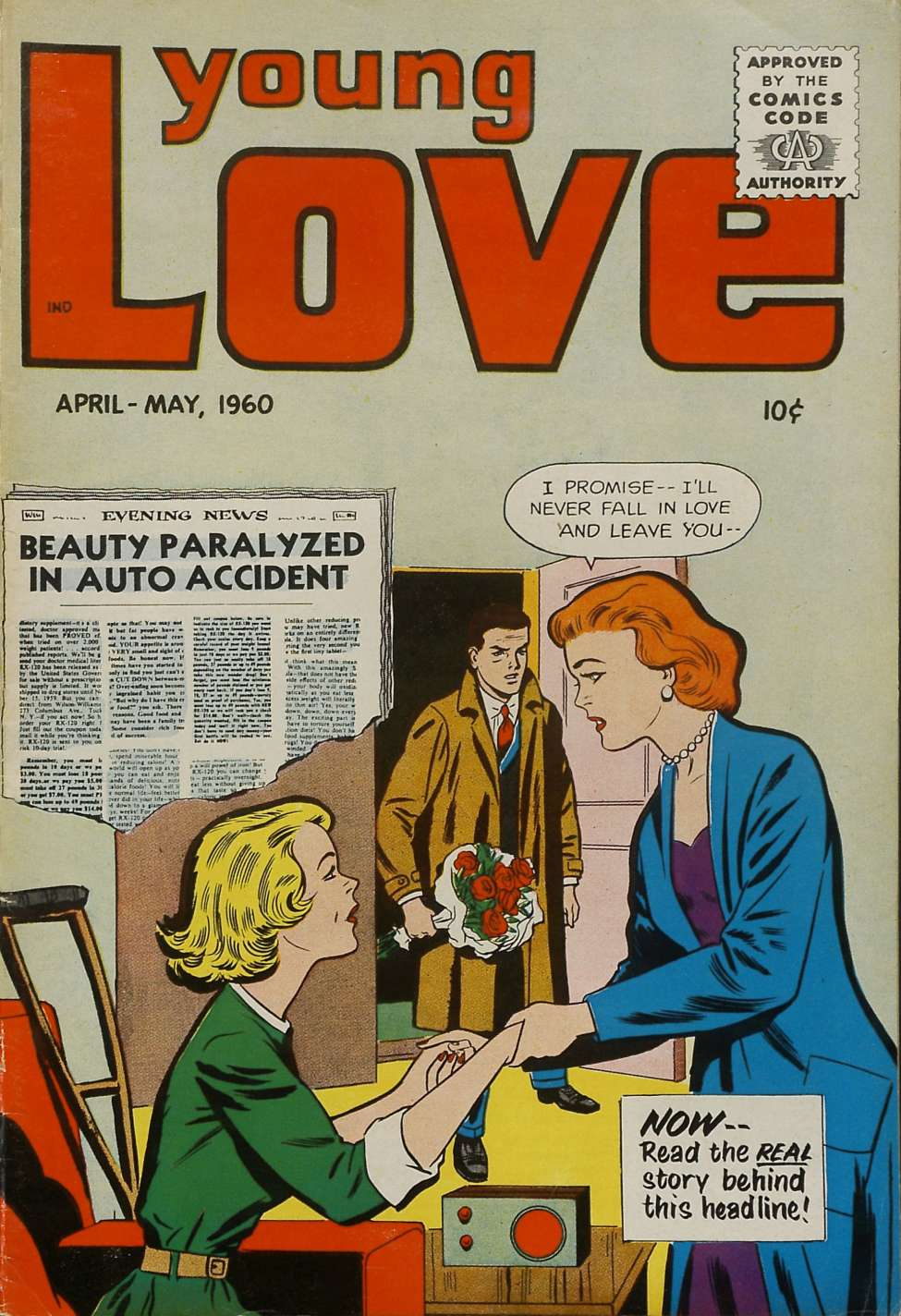 Comic Book Cover For Young Love v3 6 (24)