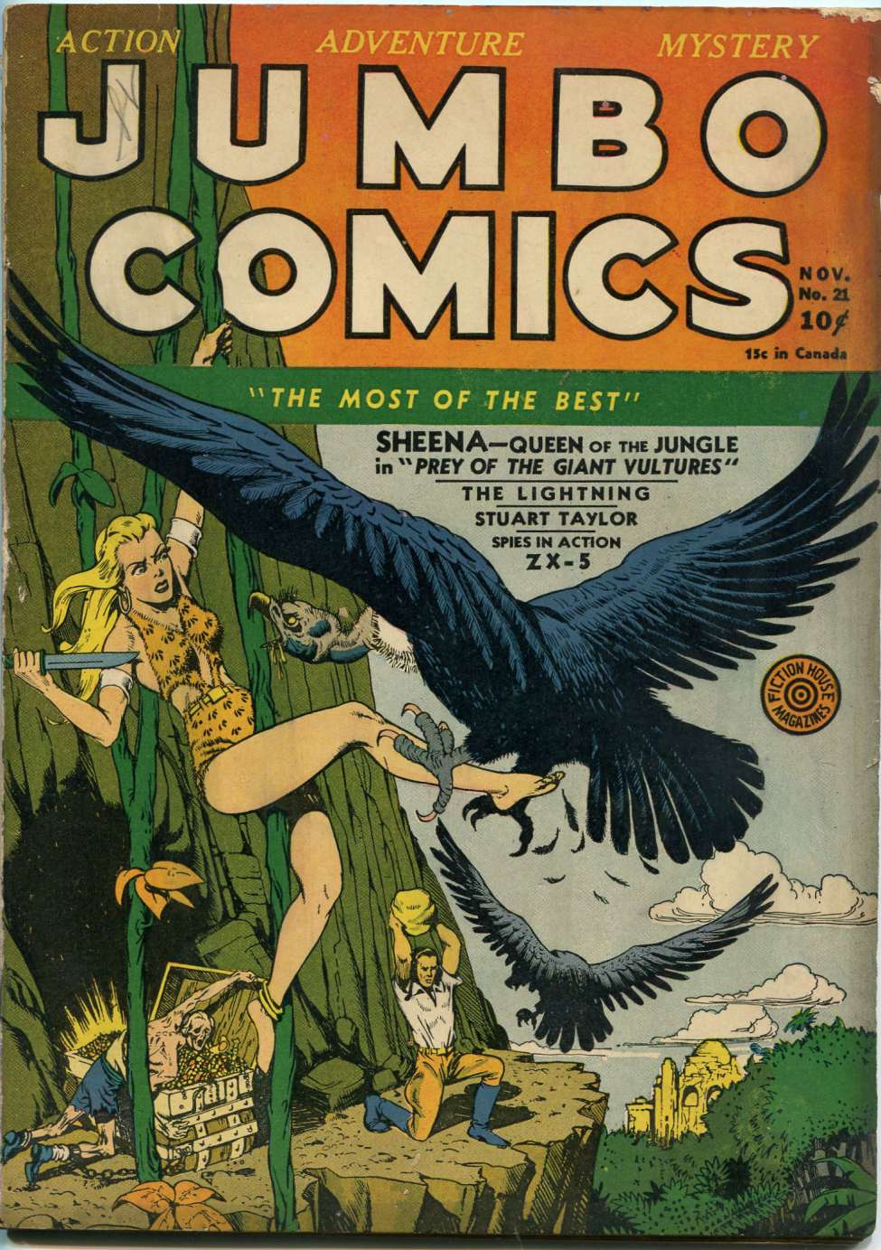 Comic Book Cover For Jumbo Comics #21