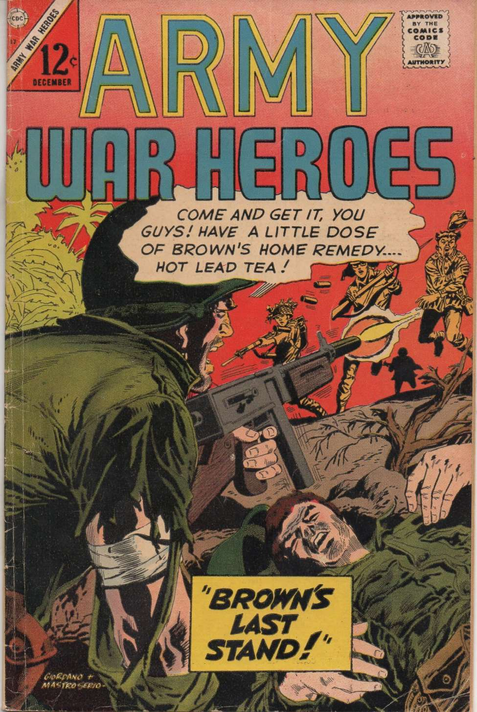 Comic Book Cover For Army War Heroes #17