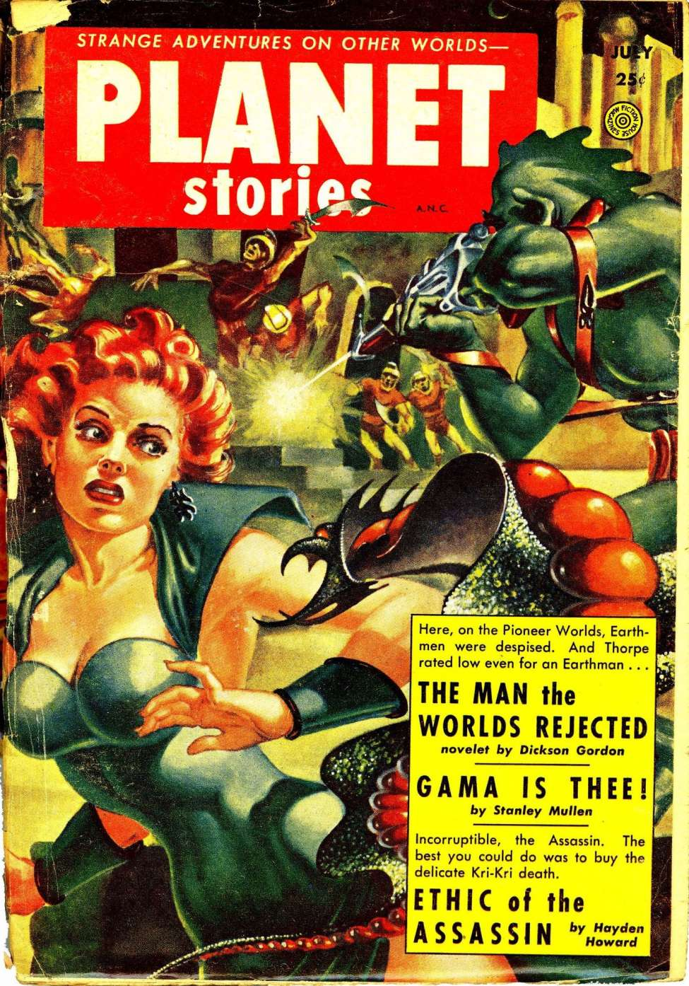 Comic Book Cover For Planet Stories v06 01 - The Man the Worlds Rejected - Dickson Gordon