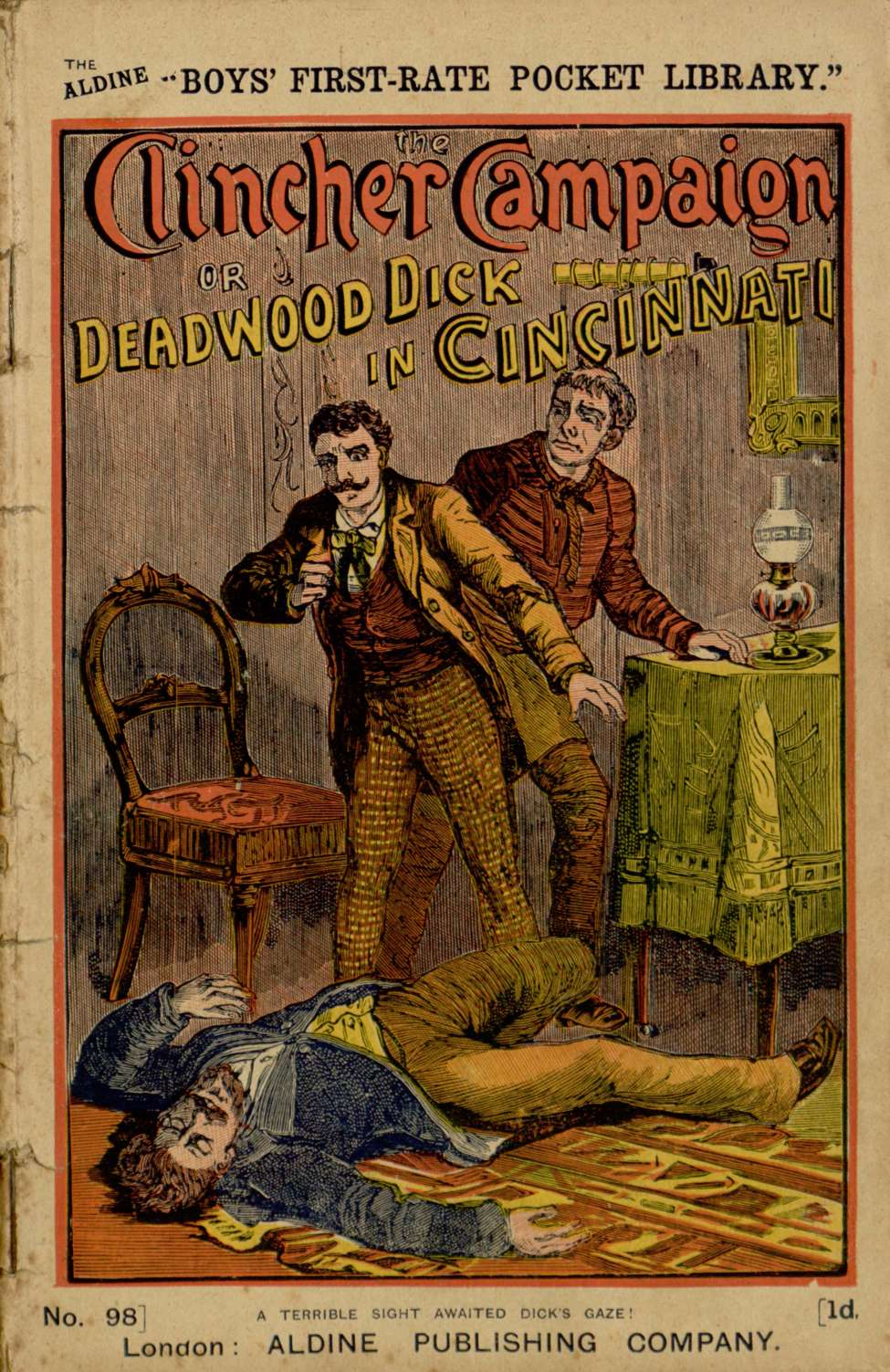 Comic Book Cover For Boys' First-Rate Pocket Library 098