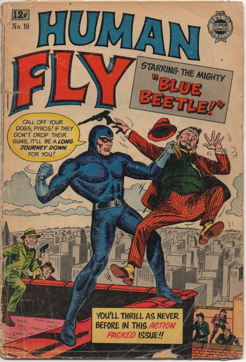 Comic Book Cover For Human Fly #10