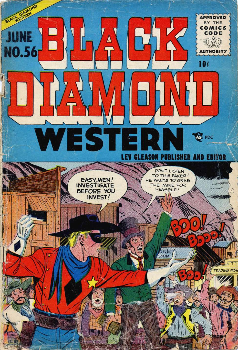 Comic Book Cover For Black Diamond Western #56