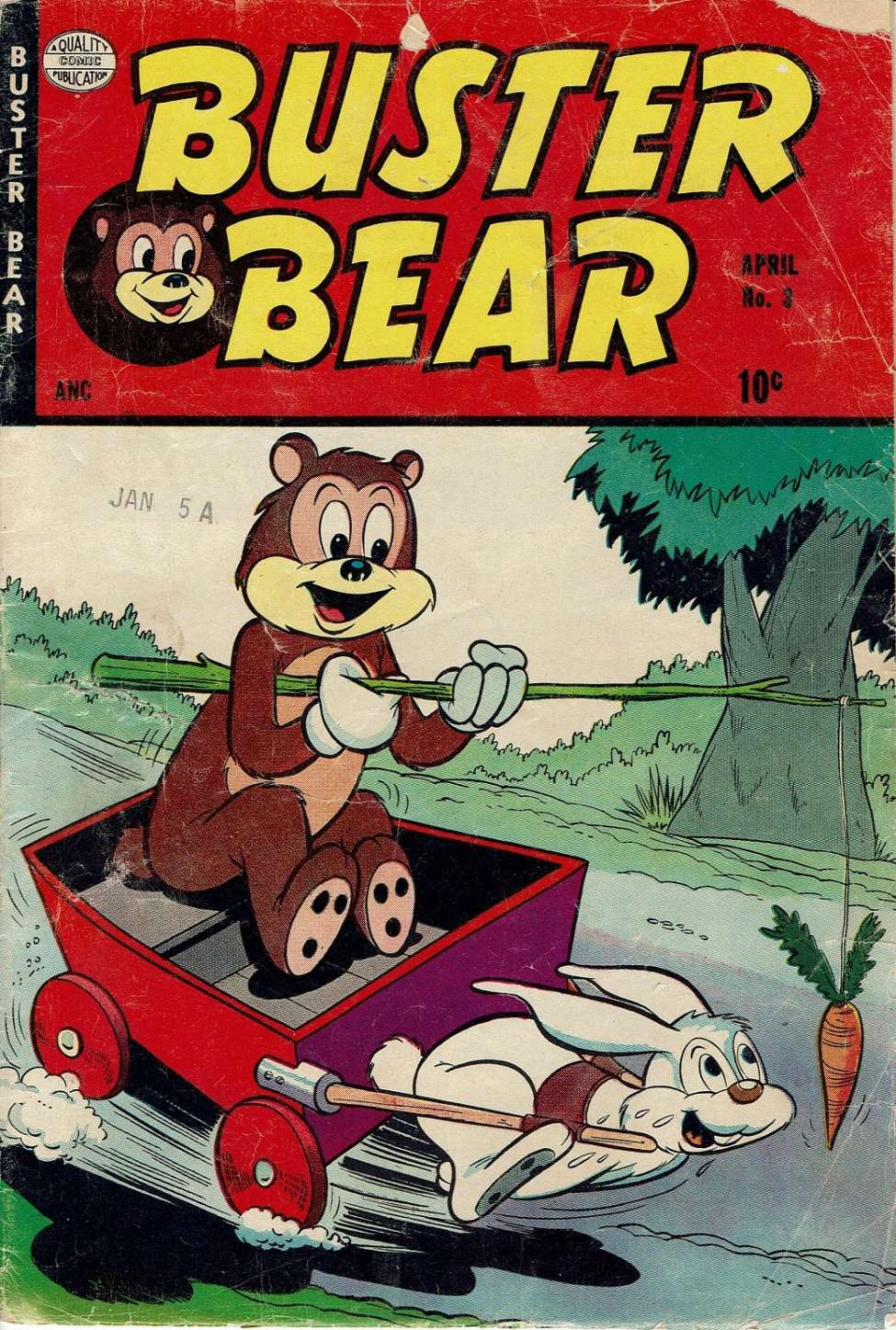 Comic Book Cover For Buster Bear #3