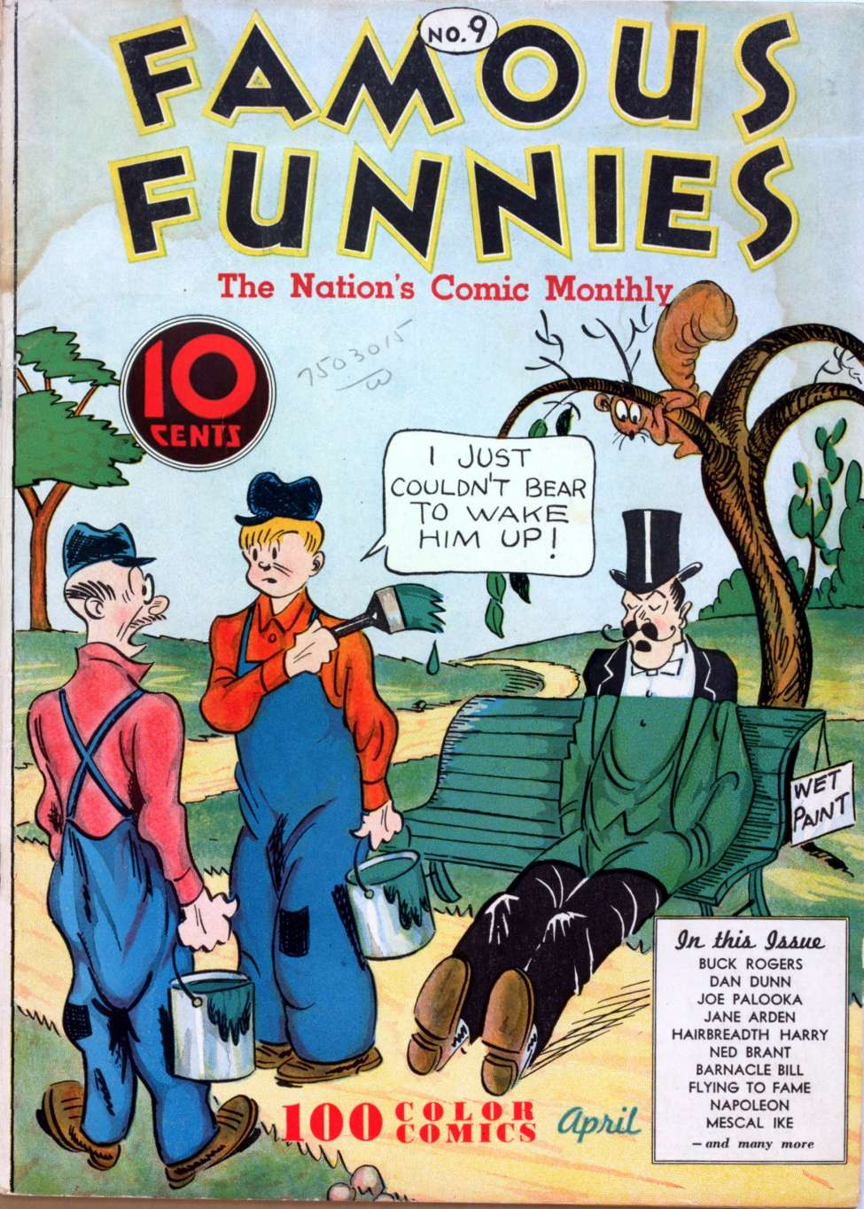 Comic Book Cover For Famous Funnies #9