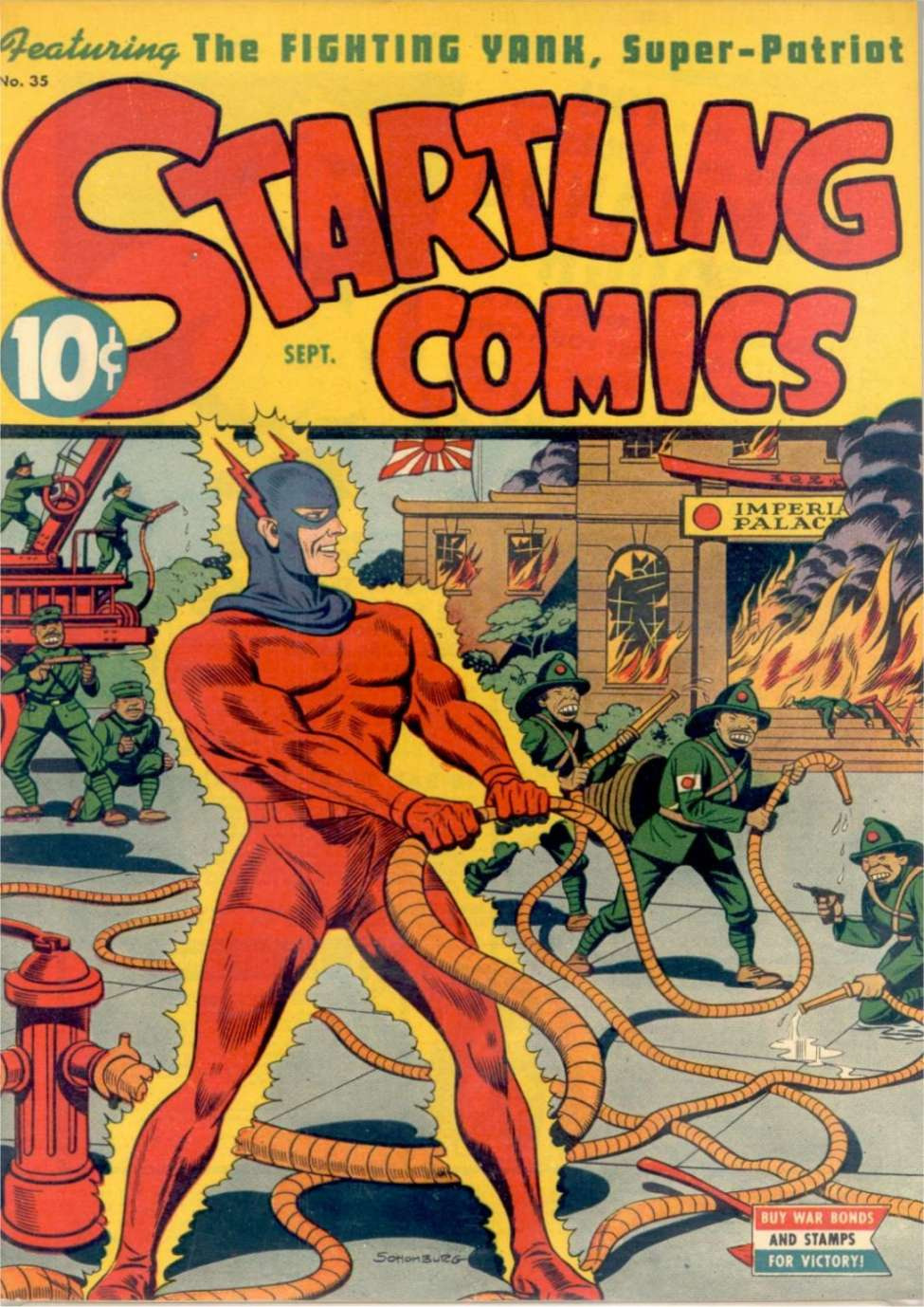 Comic Book Cover For Startling Comics #35