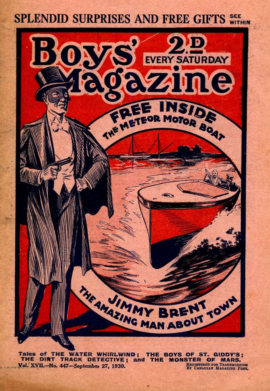 Comic Book Cover For Boys' Magazine 447