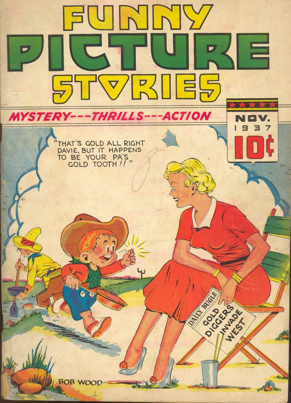Comic Book Cover For Funny Picture Stories v2 #3