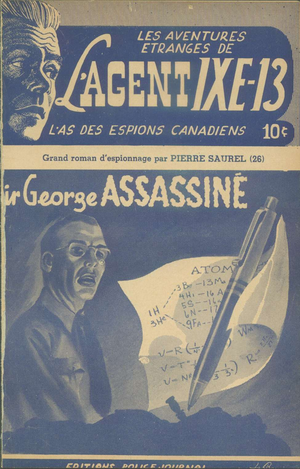 Comic Book Cover For L'Agent IXE-13 v2 026 - Sir George assassiné