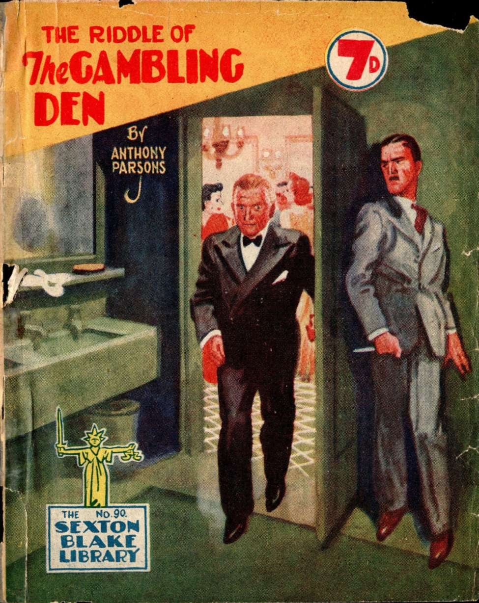 Comic Book Cover For Sexton Blake Library S3 090 - The Riddle of the Gambling Den